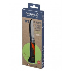 OPINEL VR N°07 Outdoor junior khaki dětský zavírací nůž s píšťalkou - čepel 8 cm 1