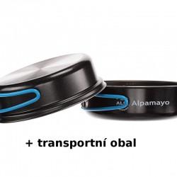 VAR (ALB Forming) Alpamayo 1campingová sada PTFE nepřilnavého nádobí Alu pro 1 osobu, obal