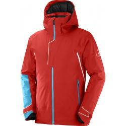 _Salomon Race Jacket M Goji Berry C15870 pánská nepromokavá zimní lyžařská bunda změřeno