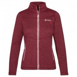 Kilpi Regin-W tmavě červená dámská sportovní funkční teplá mikina/svetr fleece 1