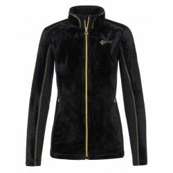 Kilpi Skathi-W černá + zlatá dámská fleecová plyšová mikina Opti-Heat1