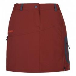 Kilpi Ana-W tmavě červená dámská outdoorová funkční sportovní sukně