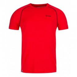 Kilpi Border-M červené pánské funkční rychleschnoucí outdoorové triko krátký rukáv