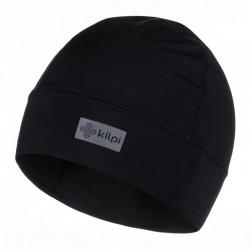 _Kilpi Tail-U černá unisex sportovní funkční zimní běžecká čepice uvnitř s fleecem změřeno