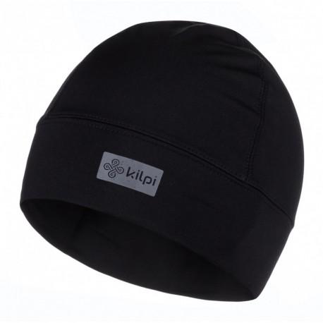 Kilpi Tail-U černá unisex sportovní funkční zimní běžecká čepice uvnitř s jemným fleecem
