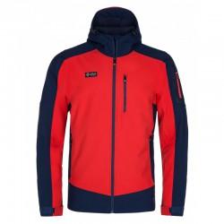 Kilpi Presena-M červená pánská zateplená softshellová bunda 1