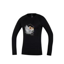 _Direct Alpine Furry Long 1.0 black (spot) pánské triko dlouhý rukáv 100% Merino změřeno