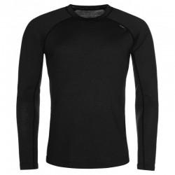 Kilpi Mavora Top-M černá pánské triko dlouhý rukáv 100% Merino vlna 1