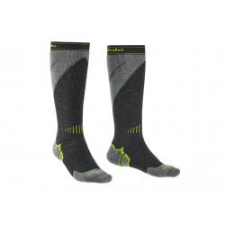 Bridgedale Ski Midweight+ gunmetal/stone  lyžařské ponožky / podkolenky Merino vlna 1