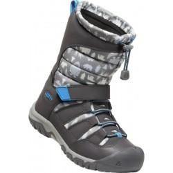 Keen Winterport Neo DT WP Jr steel grey/brilliant blue dětské zimní nepromokavé boty