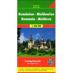 Freytag & Berndt Rumunsko, Moldávie 1:500 000 automapa