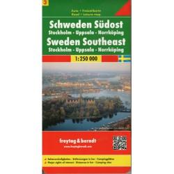 Freytag a Berndt Švédsko 3 - jihovýchod 1:250 000 automapa