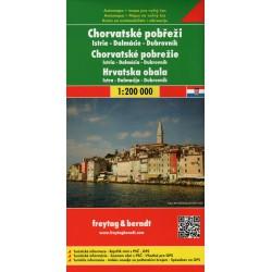 Freytag a Berndt Chorvatské pobřeží, Istrie, Dalmácie, Dubrovník 1:200 000 automapa