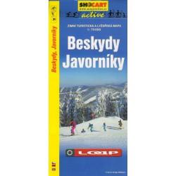 SHOCart Beskydy, Javorníky 1:75 000 zimní turistická a lyžařská mapa