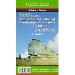 DIMAP Piatra Craiului, Bucegi, Postavarul, Piatra Mare, Ciucas 1:70 000 turistická mapa