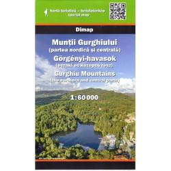 DIMAP Muntii Gurghiului sever a střed 1:60 000 turistická mapa