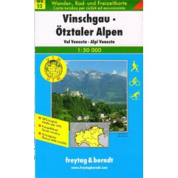 Freytag a Berndt WK S2 Vinschgau, Ötztaler Alpen 1:50 000 turistická mapa