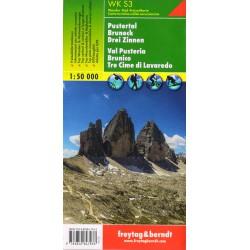 Freytag a Berndt WK S3 Pustertal, Bruneck, Drei Zinnen 1:50 000 turistická mapa