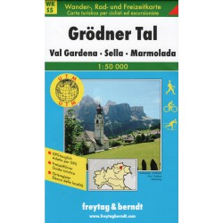 Freytag & Berndt WK S5 Grödner Tal, Val Gardena, Sella, Marmolada 1:50 000