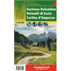 Freytag & Berndt WK S10 Sextenské Dolomity, Cortina d´ Ampezzo 1:50 000
