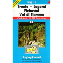 Freytag & Berndt WK S14 Trento, Lagorai, Fleimstal, Val di Fiemme 1:50 000