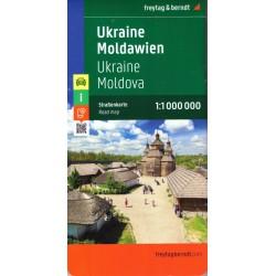 Freytag a Berndt Ukrajina, Moldávie 1:1 000 000 automapa