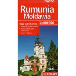 DEMART Rumunia, Mołdawia/Rumunsko, Moldávie 1:600 000 automapa