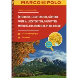 Marco Polo Rakousko, Lichtenštejnsko, Jižní Tyrolsko 1:200 000 autoatlas