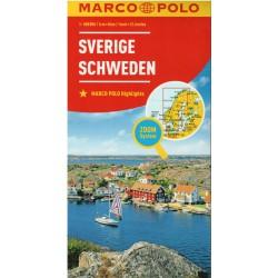 Marco Polo Švédsko 1:800 000 automapa