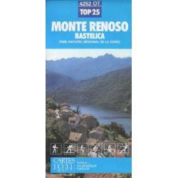 IGN 4252 Monte Renoso, Bastelica 1:25 000 turistická mapa