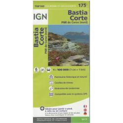 IGN 175 Bastia, Corte 1:100 000