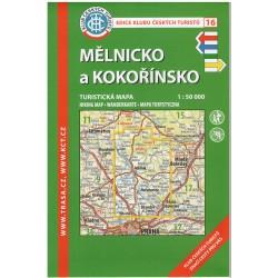 KČT 16 Mělnicko a Kokořínsko 1:50 000 turistická mapa