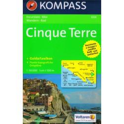 Kompass 644 Cinque Terre 1:50 000 turistická mapa
