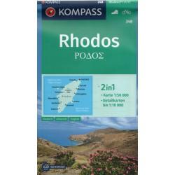 Kompass 248 Rhodos 1:50 000