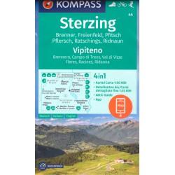 Kompass 44 Sterzing/Vipiteno 1:50 000 turistická mapa