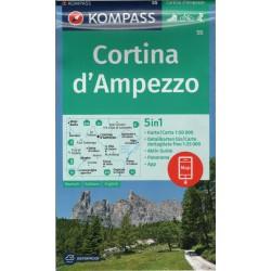Kompass 55 Cortina d'Ampezzo 1:50 000