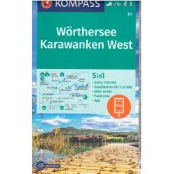 Kompass 61 Wörthersee, Karawanken západ 1:50 000