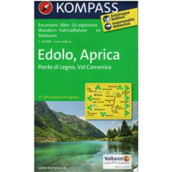 Kompass 94 Édolo, Aprica 1:50 000 turistická mapa