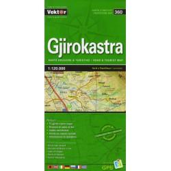 Vektor 360 Albánie Gjirokastra 1:120 000 automapa