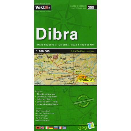 Vektor 355 Albánie Dibra 1:100 000 automapa