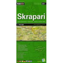 Vektor 381 Albánie Skrapari 1:100 000 automapa