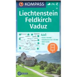 Kompass 21 Feldkirch, Vaduz 1:50 000