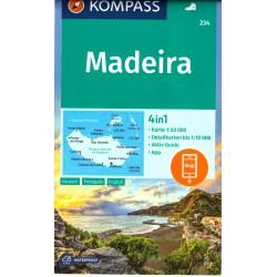 Kompass 234 Madeira 1:50 000 turistická mapa