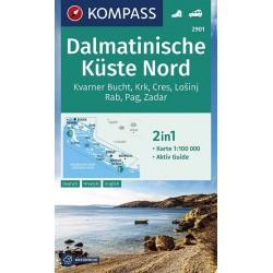 Kompass 2901 Dalmatinische Küste Nord 1:100 000 turistická mapa