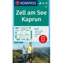 Kompass 030 Zell am See, Kaprun 1:35 000