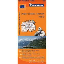 Michelin 551 Švýcarsko sever 1:200 000 automapa