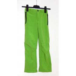 Alpisport Peak Junior zelená dětské nepromokavé softshellové kalhoty 20 000 mm