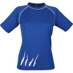 Schwarzwolf Active Fashion Women modrá/bílá dámské triko krátký rukáv