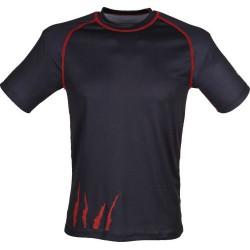 Schwarzwolf Active Fashion Women černá/červená dámské triko krátký rukáv