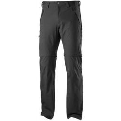 Salomon Wayfarer Zip Pant M black 370972 pánské odepínací turistické softshellové kalhoty
